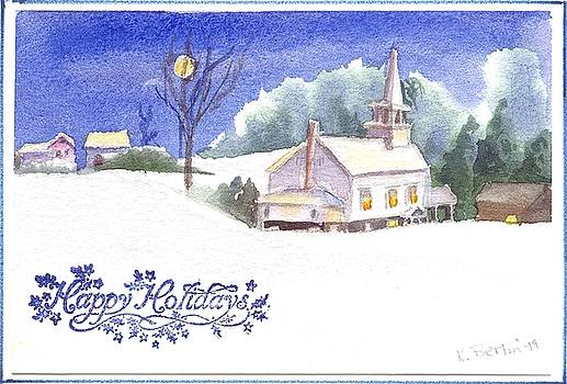 Church in Snow by Katherine  Berlin