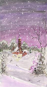 Church in the snow by Darren Cannell