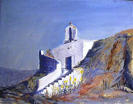 Church Of a Greek island by George Siaba