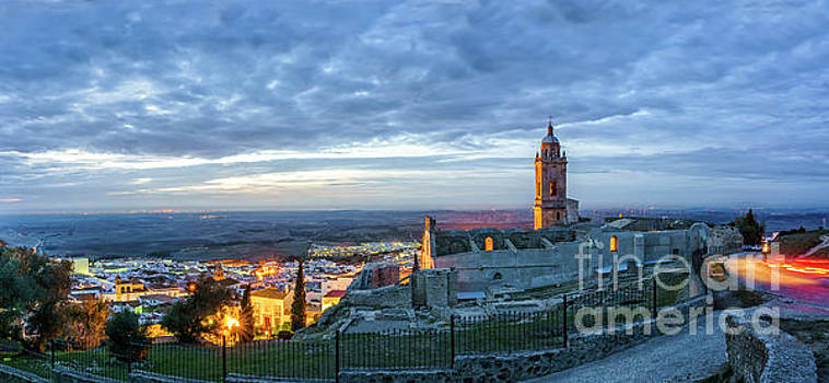 Church Of Saint Mary The Crowned Medina Sidonia Panorama Cadiz Spain by Pablo Avanzini