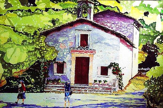 Church of the Roses Italy by Tom Herrin