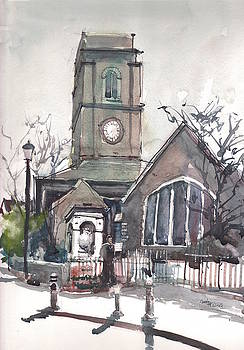 Church on Chelsea Embankment by Gaston McKenzie