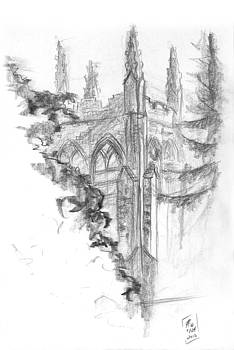 Church Sketch by Brandy Woods