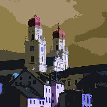 James Hill - Church Towers on Danube