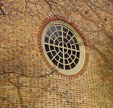 Church Window and Shadows by E Robert Dee