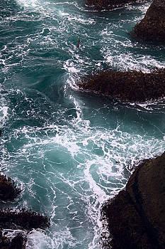 Churning Ocean and Rocks by Stacey Lynn Payne
