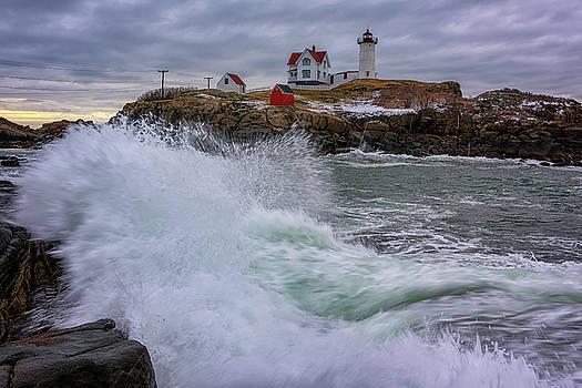 Churning Seas at Cape Neddick by Rick Berk