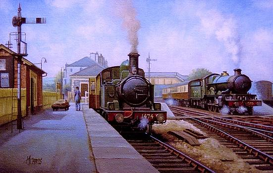 Churston station 1956. by Mike Jeffries