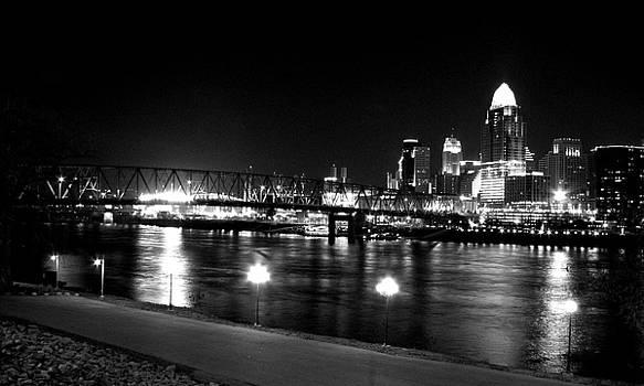 Cincinnati and Ohio River by Keiko Richter