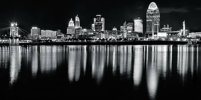Cincinnati in Charcoal Panoramic by Frozen in Time Fine Art Photography