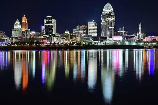 Cincinnati Late Night Lights by Frozen in Time Fine Art Photography