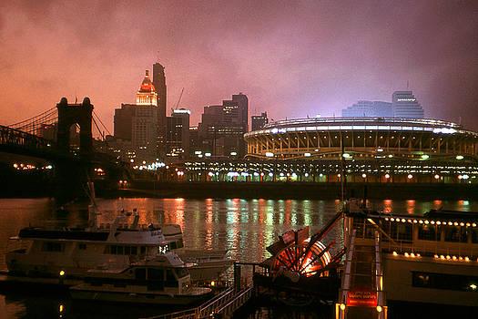 Art America Gallery Peter Potter - Red Sunset Sky In Cincinnati Ohio