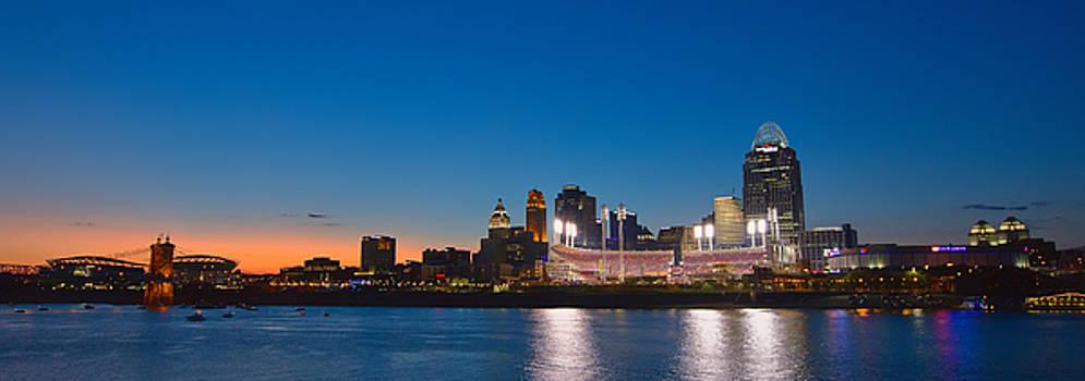 Cincinnati Skyline Sunset by Craig Bowman