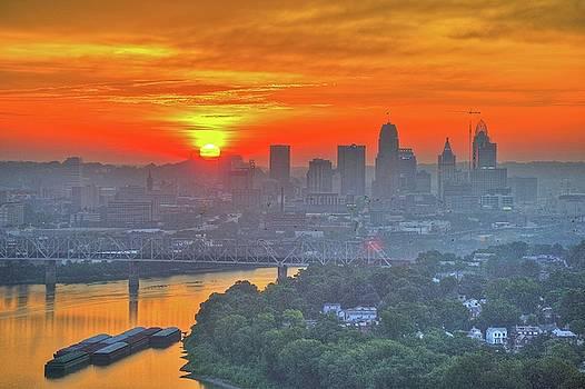 Cincinnati Skyline by Wolfgang Kreutzer