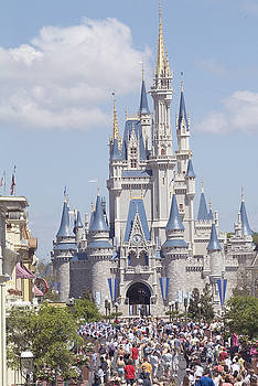 Cinderella Castle at Walt Disney World by Charles  Ridgway