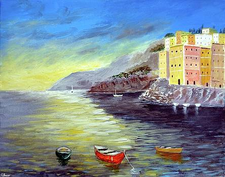 Cinque Terre Dreams by Larry Cirigliano