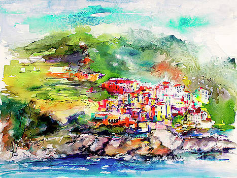 Cinque Terre italy Corniglia Travel Memories by Ginette Callaway