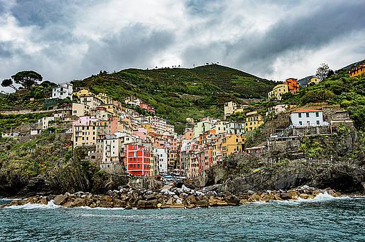 Cinque Terre Riomaggiore by Alida Thorpe