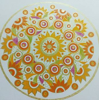 Circle 4 gold by Jilly Curtis