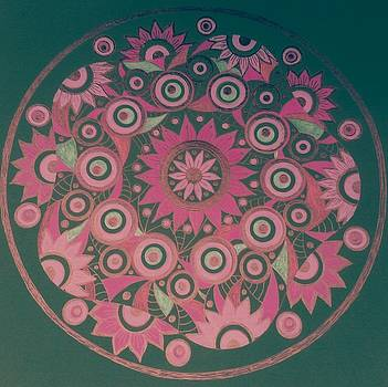 Circle 6 pink by Jilly Curtis
