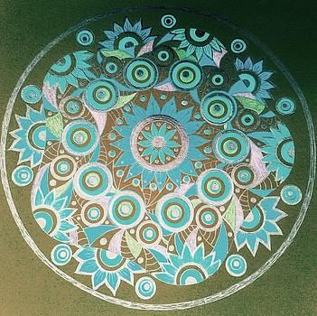 Circle 8 aqua  by Jilly Curtis