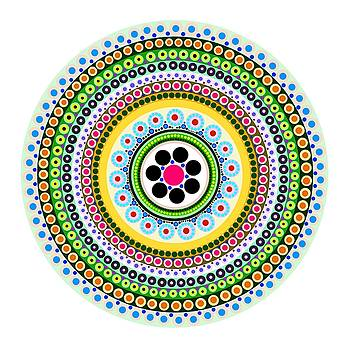 Circle Motif 217 by John F Metcalf