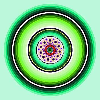 Circle Motif 229 by John F Metcalf
