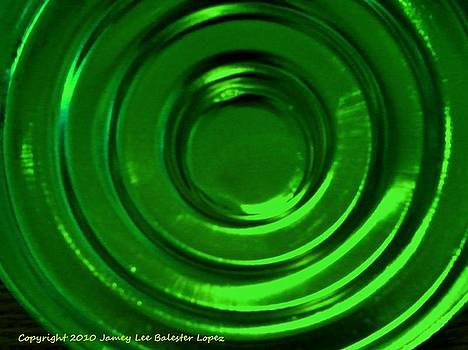 Circle Reflections Green by Jamey Balester