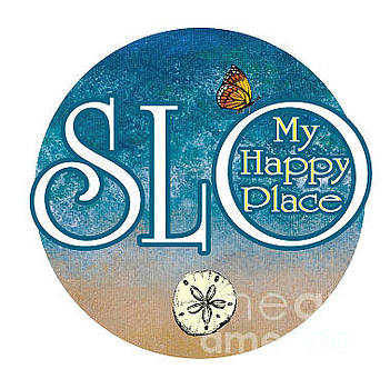Circle SLO My Happy Place- seascape colors by Shelley Myers