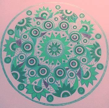 Circle7  green  by Jilly Curtis