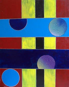 Circles Lines Color #7 by J R Seymour