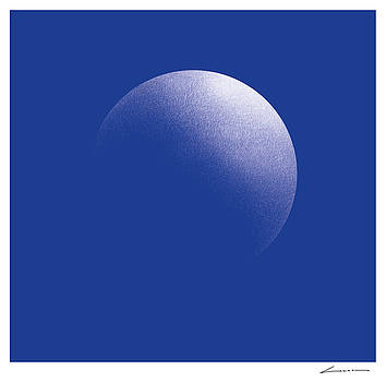 Circular Illumination Blue by Luc Cannoot