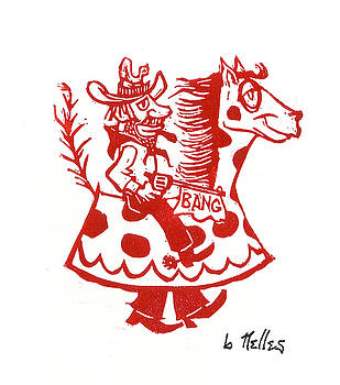Circus Cowboy by Barry Nelles Art