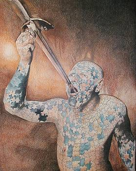 Circus Sword Swallower by Bennie Parker