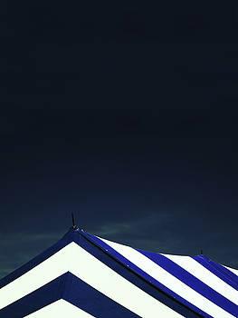Circus Tent in Dark Cobalt Sky  by Brooke T Ryan