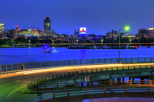 CITGO Sign across the Charles River - Boston by Joann Vitali