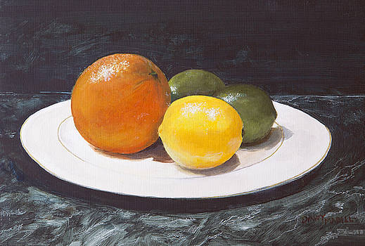 Citrus On A Plate by Dinny Madill
