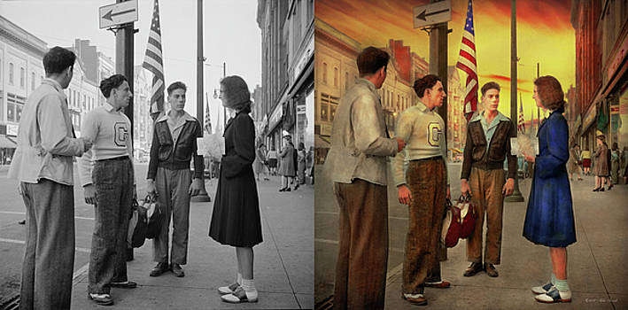 City - Amesterdam NY - The bowling score 1941 - Side by Side by Mike Savad