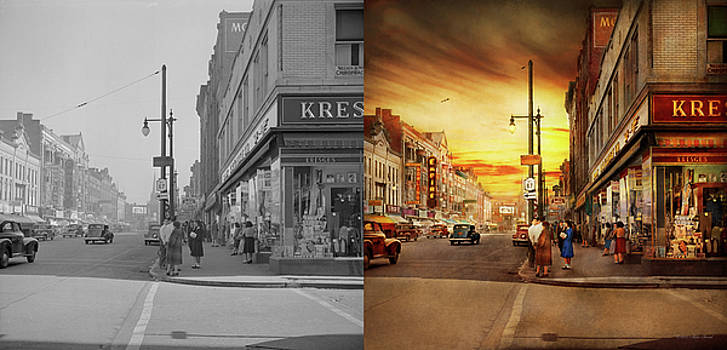 City - Amsterdam NY - The lost city 1941 - Side by Side by Mike Savad