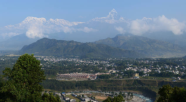 City and Annapurna  view  by Atul Daimari