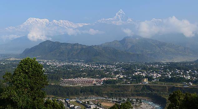 City and Annapurna  view  by Atul Daimari