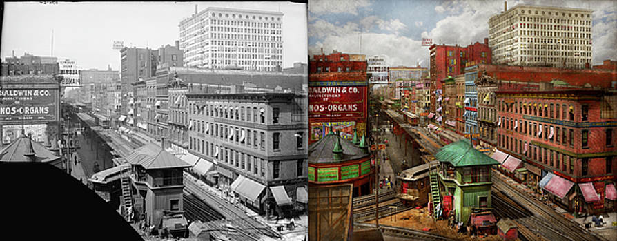 City - Chicago - Piano Row 1907 - Side by Side by Mike Savad