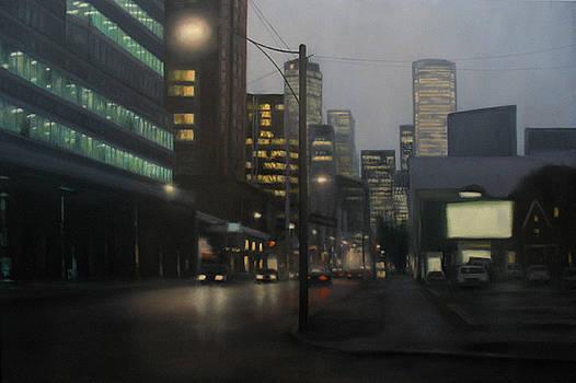 City Corner City Lights by Sharon Ramsay