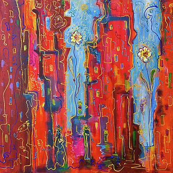 City flowers 12x12 by Maxim Komissarchik