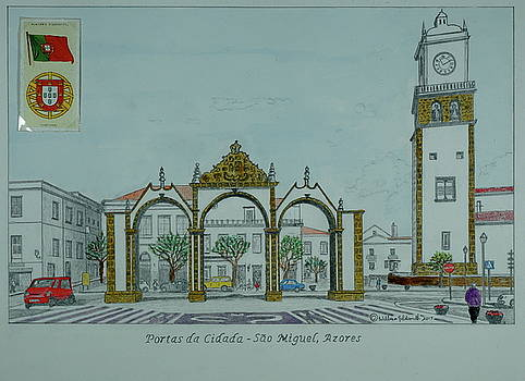 City Gates, San Miguel,azores by William Goldsmith