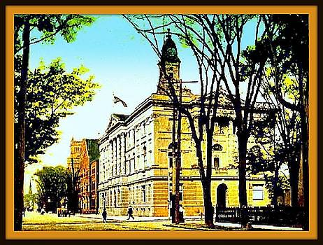 City Hall And Armory, Elmira N Y, 1905 by Dwight GOSS