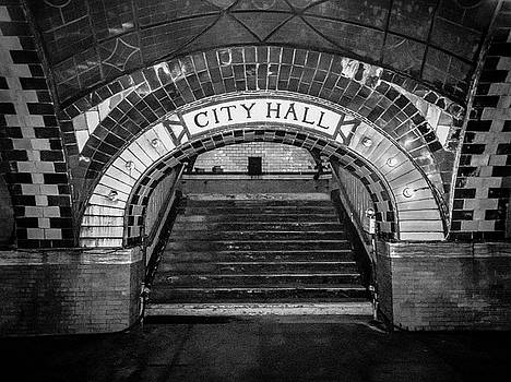 City Hall Ghost Station BW by Dave Beckerman