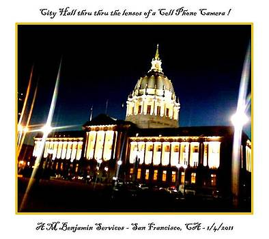 City Hall thru a cell camera by Anthony Benjamin