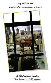 City Hall Thru a Window by Anthony Benjamin