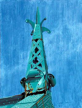 City Island Bridge Spire by Marguerite Chadwick-Juner